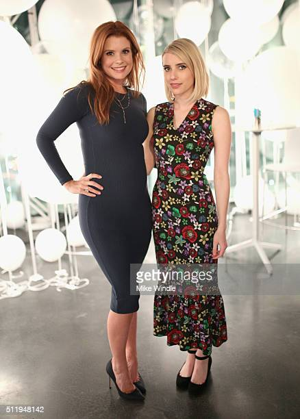 Actresses JoAnna Garcia and Emma Roberts attend smartwater sparkling celebrates Jennifer Aniston and St Jude's Children's Hospital at W Hollywood on...