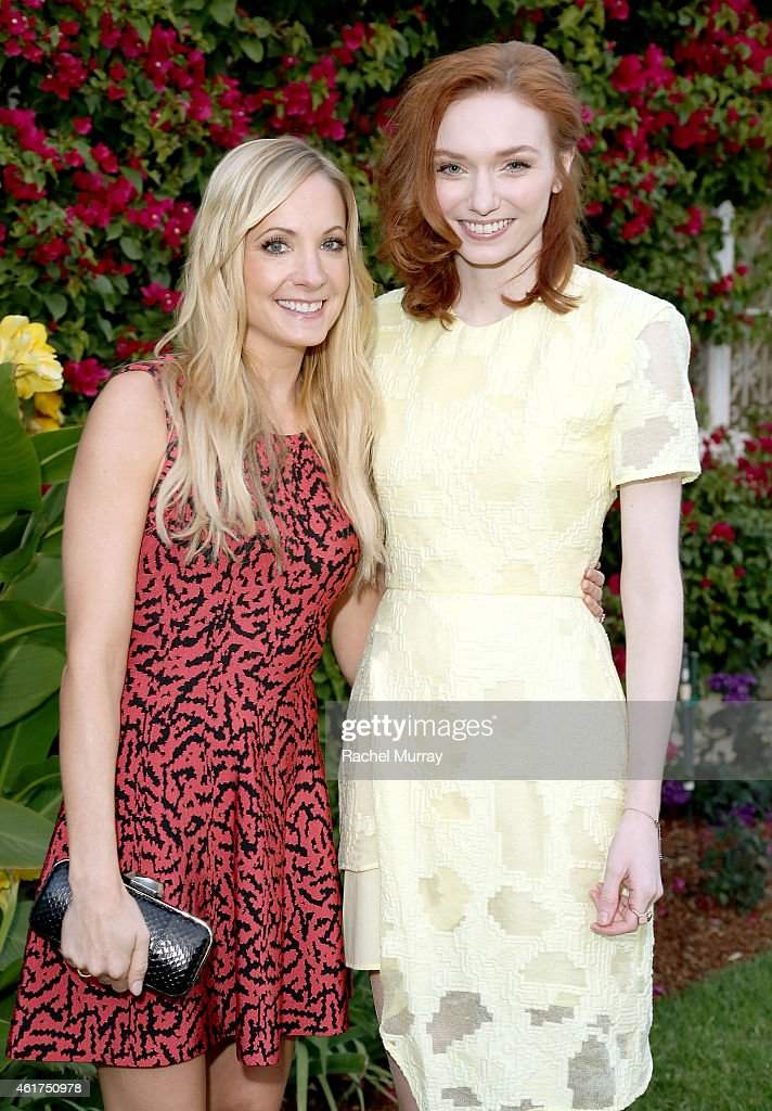 Actresses Joanne Froggatt and Eleanor Tomlinson attend an afternoon tea at The British Consulate celebrating 'Wolf Hall' Airing On Masterpiece On PBS...