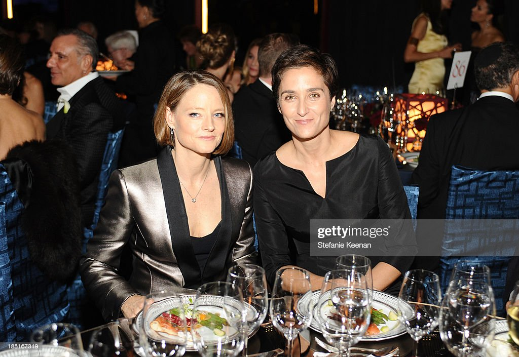 Actresses Jodie Foster (L) and Alexandra Hedison attend the Wallis Annenberg Center for the Performing Arts Inaugural Gala presented by Salvatore Ferragamo at the Wallis Annenberg Center for the Performing Arts on October 17, 2013 in Beverly Hills, California.