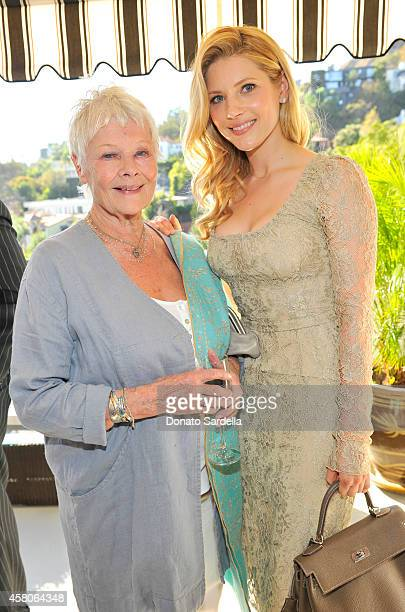 Actresses Judi Dench and Katheryn Winnick at Eddie Redmayne Vanity Fair And Burberry Celebrate BAFTA Los Angeles and the Britannia Awards at Chateau...