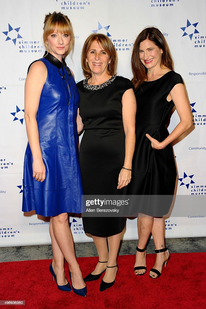 Actresses Judy Greer CEO of Zimmer Children's Museum Esther Netter and actress Kathryn Hahn attend Zimmer Children's Museum Discovery Award Dinner at...