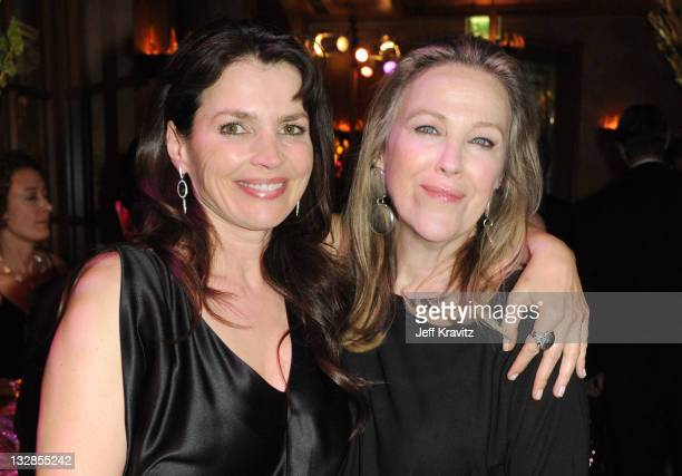 Actresses Julia Ormond and Catherine O'Hara attend the official HBO SAG Awards after party held at at Spago on January 29 2011 in Beverly Hills...
