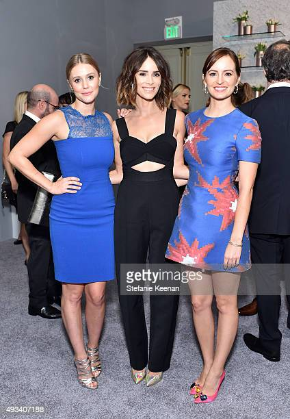 Actresses Julianna Guill Abigail Spencer and Ahna O'Reilly attend the 22nd Annual ELLE Women in Hollywood Awards presented by Calvin Klein Collection...