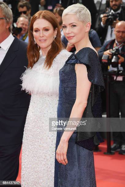 Actresses Julianne Moore and Michelle Williams attend the 'Wonderstruck' screening during the 70th annual Cannes Film Festival at Palais des...