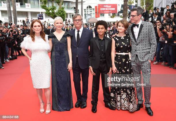 Actresses Julianne Moore Michelle Williams Director Todd Haynes actor Jaden Michael actress Millicent Simmonds and Screenwriter Brian Selznick attend...