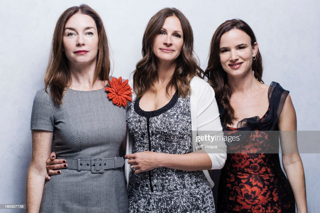 Actresses Julianne Nicholson, Julia Roberts and Juliette Lewis are photographed at the Toronto Film Festival on September 10, 2013 in Toronto, Ontario.