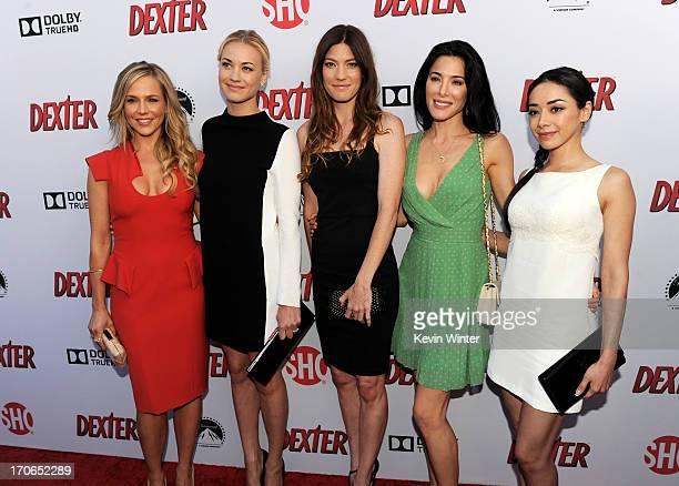 Actresses Julie Benz Yvonne Strahovski Jennifer Carpenter Jaime Murray and Aimee Garcia arrive at the premiere screening of Showtime's 'Dexter'...