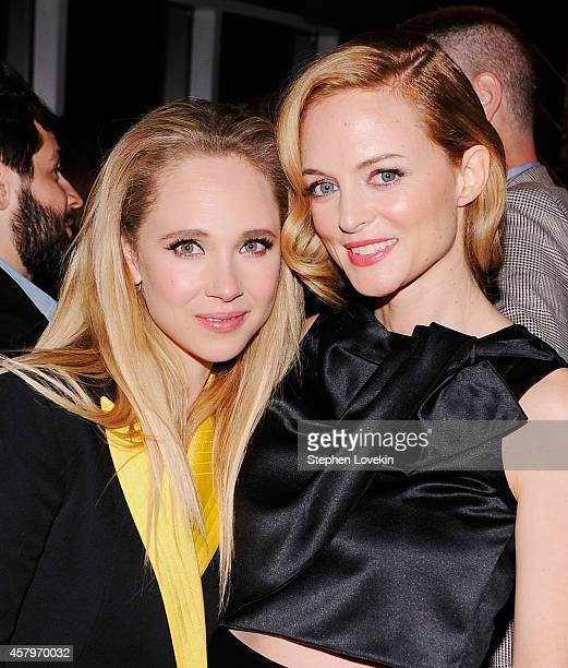 Actresses Juno Temple and Heather Graham attend the RADiUS TWC and The Cinema Society New York Premiere of 'Horns' after party at Jimmy At The James...