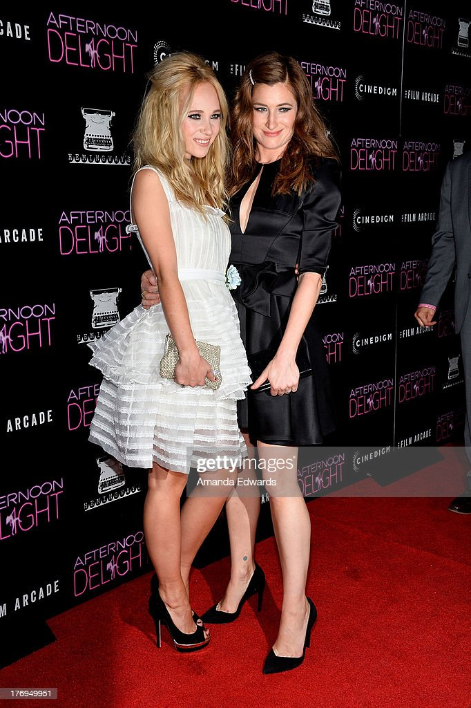 Actresses <a gi-track='captionPersonalityLinkClicked' href=/galleries/search?phrase=Juno+Temple&family=editorial&specificpeople=4692912 ng-click='$event.stopPropagation()'>Juno Temple</a> (L) and <a gi-track='captionPersonalityLinkClicked' href=/galleries/search?phrase=Kathryn+Hahn&family=editorial&specificpeople=221548 ng-click='$event.stopPropagation()'>Kathryn Hahn</a> arrrive at the Los Angeles premiere of 'Afternoon Delight' at ArcLight Hollywood on August 19, 2013 in Hollywood, California.