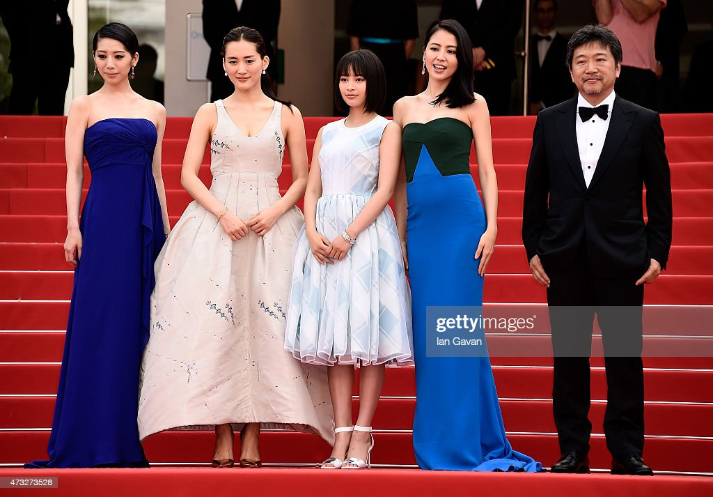 Actresses <a gi-track='captionPersonalityLinkClicked' href=/galleries/search?phrase=Kaho+-+Actress&family=editorial&specificpeople=5558154 ng-click='$event.stopPropagation()'>Kaho</a>, <a gi-track='captionPersonalityLinkClicked' href=/galleries/search?phrase=Haruka+Ayase&family=editorial&specificpeople=4451163 ng-click='$event.stopPropagation()'>Haruka Ayase</a>, <a gi-track='captionPersonalityLinkClicked' href=/galleries/search?phrase=Suzu+Hirose&family=editorial&specificpeople=14597474 ng-click='$event.stopPropagation()'>Suzu Hirose</a>, <a gi-track='captionPersonalityLinkClicked' href=/galleries/search?phrase=Masami+Nagasawa&family=editorial&specificpeople=2982567 ng-click='$event.stopPropagation()'>Masami Nagasawa</a>, and director Hirokazu Koreeda attend the Premiere of 'Umimachi Diary' ('our Little Sister') during the 68th annual Cannes Film Festival on May 14, 2015 in Cannes, France.