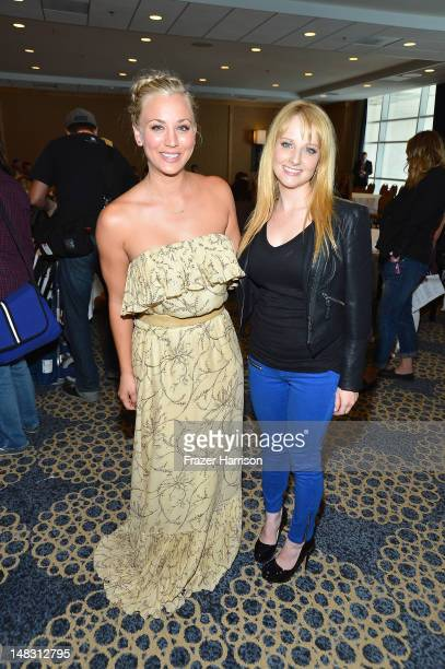 Actresses Kaley Cuoco and Melissa Rauch attend 'The Big Bang Theory' Press Room during ComicCon International 2012 held at the Hilton San Diego...