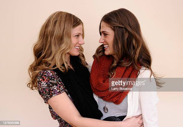 Actresses Kandis Erickson and Kristin Erickson pose for a portrait during the 2012 Sundance Film Festival at the Getty Images Portrait Studio at...