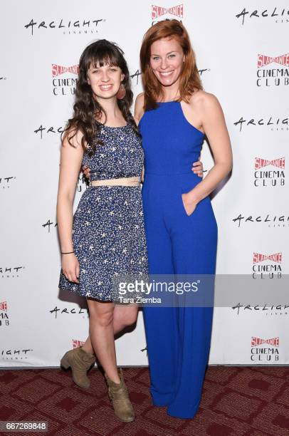 Actresses Kara McNally and Cassidy Freeman attend Arclight Presents Slamdance Cinema Club 'Cortez' at ArcLight Cinemas on April 10 2017 in Hollywood...