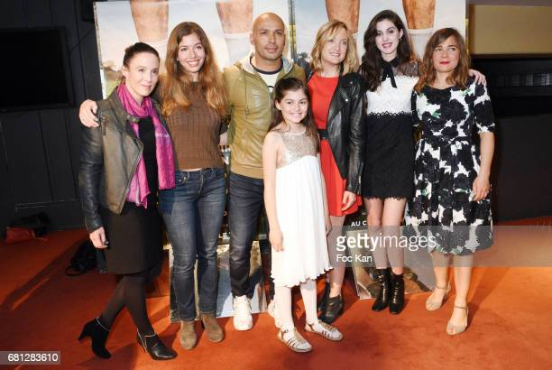 Actresses Karine Valmer Celia Rosich director Eric Judor actresses Marie Helmer Dorothee Pousseo Claire Chust and screenwriter Blanche Gardin attend...