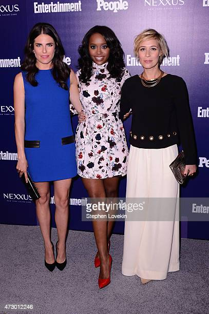 Actresses Karla Souza Aja Naomi King and Liza Weil attend the Entertainment Weekly and PEOPLE celebration of The New York Upfronts at The Highline...
