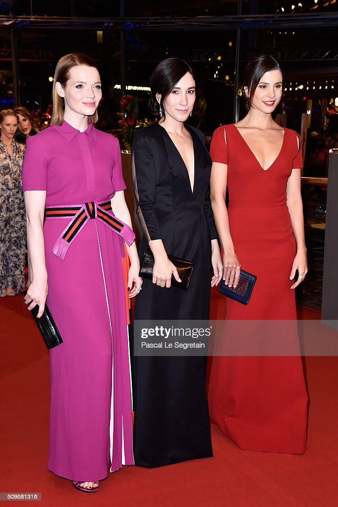 Actresses Karoline Herfurth Sibel Kekilli and Aylin Tezel atend the 'Hail Caesar' premiere during the 66th Berlinale International Film Festival...