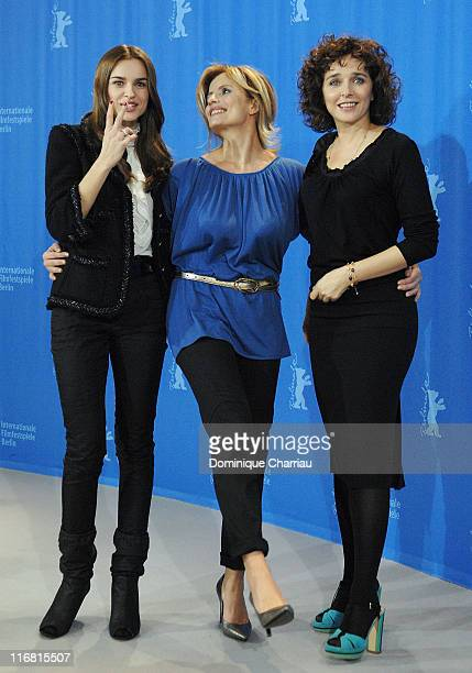 Actresses Kasia Smutniak Isabella Ferrari and Valeria Golino attend the 'Quiet Chaos' Photocall as part of the 58th Berlinale Film Festival at the...