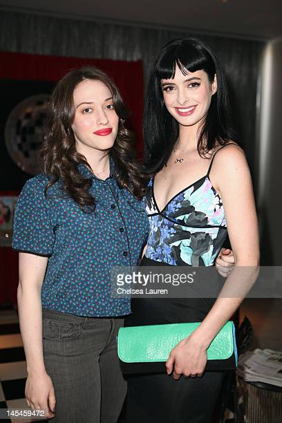 Actresses Kat Dennings and Krysten Ritter attend Day 1 of the Variety EMMY studio sponsored by Motorola on May 30 2012 in West Hollywood California