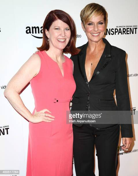 Actresses Kate Flannery and Melora Hardin attend the premiere of Amazon's 'Transparent' at Ace Hotel on September 15 2014 in Los Angeles California