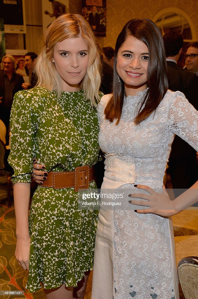 Actresses <a gi-track='captionPersonalityLinkClicked' href=/galleries/search?phrase=Kate+Mara&family=editorial&specificpeople=544680 ng-click='$event.stopPropagation()'>Kate Mara</a> (L) and <a gi-track='captionPersonalityLinkClicked' href=/galleries/search?phrase=Melonie+Diaz&family=editorial&specificpeople=3323742 ng-click='$event.stopPropagation()'>Melonie Diaz</a> attend the 14th annual AFI Awards Luncheon at the Four Seasons Hotel Beverly Hills on January 10, 2014 in Beverly Hills, California.