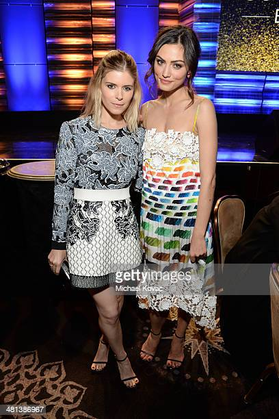 Actresses Kate Mara and Phoebe Tonkin attend the Humane Society of The United States 60th Anniversary Gala at The Beverly Hilton Hotel on March 29...
