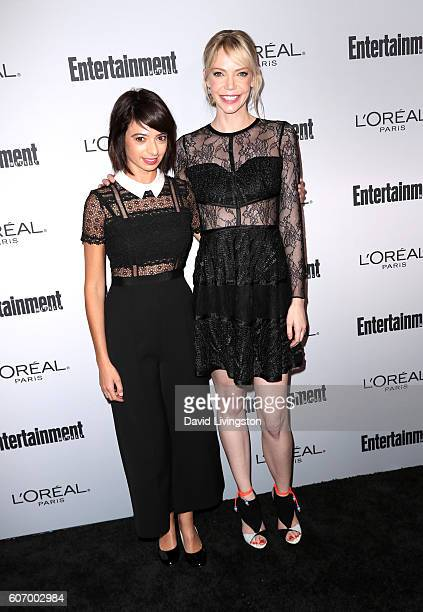Actresses Kate Micucci and Riki Lindhome attend Entertainment Weekly's 2016 PreEmmy Party at Nightingale Plaza on September 16 2016 in Los Angeles...