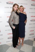 Actresses Kate Upton and Cameron Diaz attend The Cinema Society Bobbi Brown with InStyle screening of 'The Other Woman' at The Paley Center for Media...