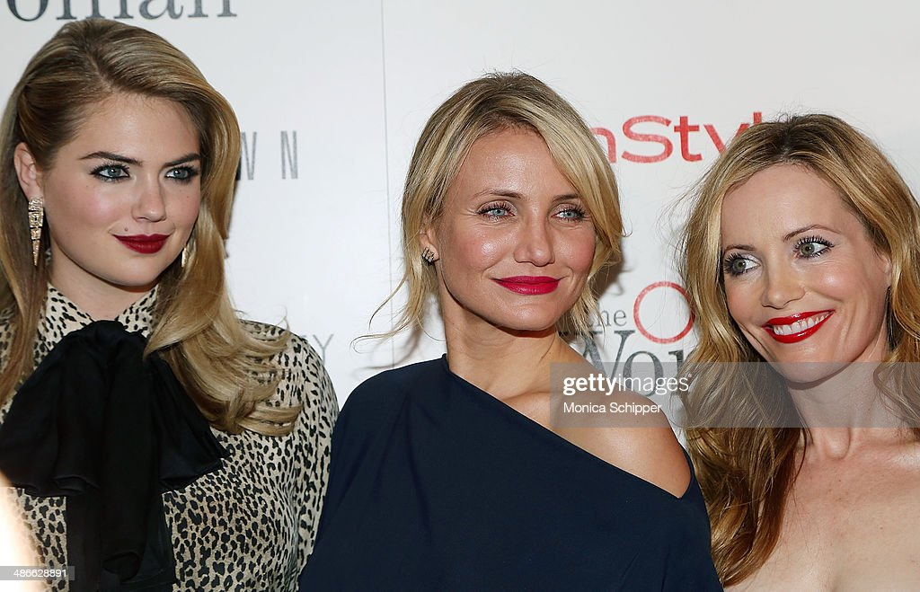 Actresses Kate Upton, Cameron Diaz and Leslie Mann attend The Cinema Society & Bobbi Brown with InStyle screening of 'The Other Woman' at The Paley Center for Media on April 24, 2014 in New York City.