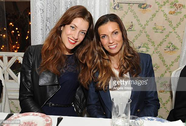 Actresses Kate Walsh and Hacer Bozkurt attend The Creative Coalition/ Senator Paul Strauss Dinner Party at Mari Vanna Los Angeles on February 13 2014...