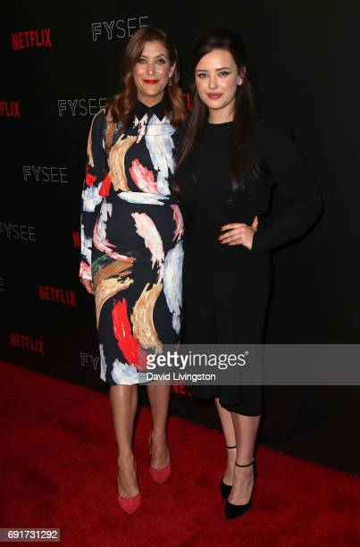 Actresses Kate Walsh and Katherine Langford attend Netflix's '13 Reasons Why' FYC event at Netflix FYSee Space on June 2 2017 in Beverly Hills...