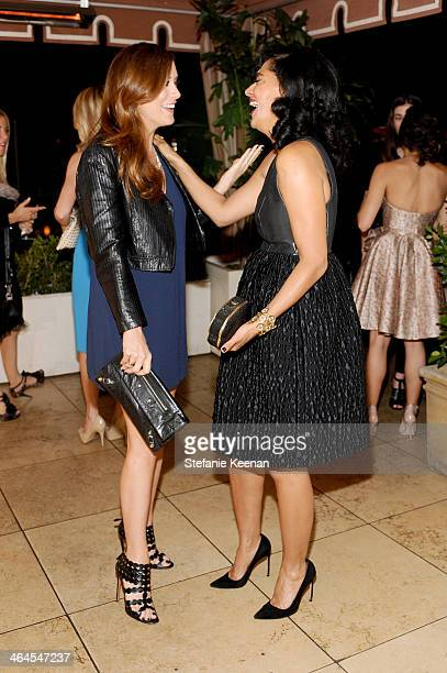 Actresses Kate Walsh and Tracee Ellis Ross attend ELLE's Annual Women in Television Celebration on January 22 2014 in West Hollywood California