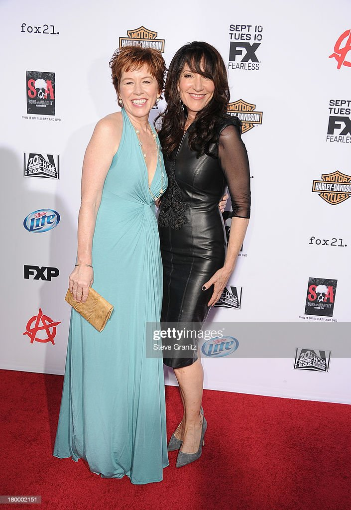 Actresses <a gi-track='captionPersonalityLinkClicked' href=/galleries/search?phrase=Katey+Sagal&family=editorial&specificpeople=221480 ng-click='$event.stopPropagation()'>Katey Sagal</a> (L) and McNally Sagal attend the Season 6 premiere screening of FX's 'Sons Of Anarchy' at Dolby Theatre on September 7, 2013 in Hollywood, California.