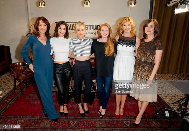 Actresses Katey Sagal Lizzy Caplan Diane Kruger Mireille Enos Connie Britton and Megan Boone attend the Variety Studio powered by Samsung Galaxy at...