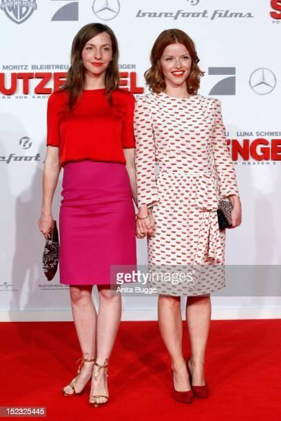 Actresses Katharina Schuettler and Karoline Schuch attend the 'Schutzengel' Premiere at CineStar on September 18 2012 in Berlin Germany