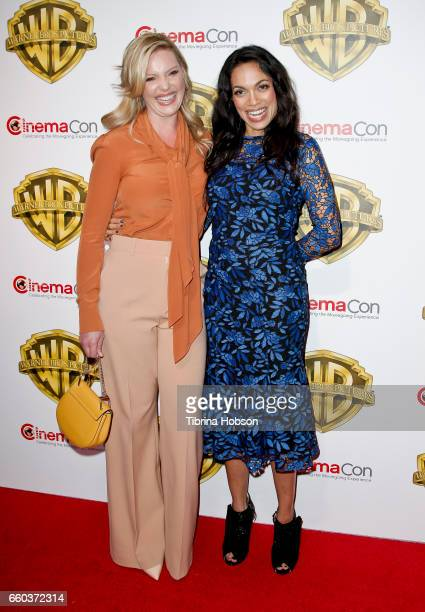Actresses Katherine Heigl and Rosario Dawson attend Warner Bros Pictures' 'The Big Picture' an exclusive presentation of our upcoming slate at The...