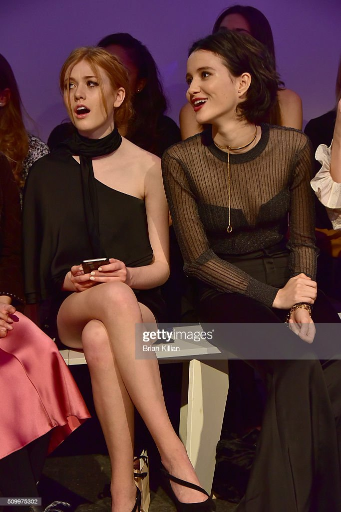 Actresses <a gi-track='captionPersonalityLinkClicked' href=/galleries/search?phrase=Katherine+McNamara&family=editorial&specificpeople=6829207 ng-click='$event.stopPropagation()'>Katherine McNamara</a> and <a gi-track='captionPersonalityLinkClicked' href=/galleries/search?phrase=Julia+Goldani+Telles&family=editorial&specificpeople=9192581 ng-click='$event.stopPropagation()'>Julia Goldani Telles</a> attend the Jill Stuart Fall 2016 show during New York Fashion Week at Industria Superstudio on February 13, 2016 in New York City.