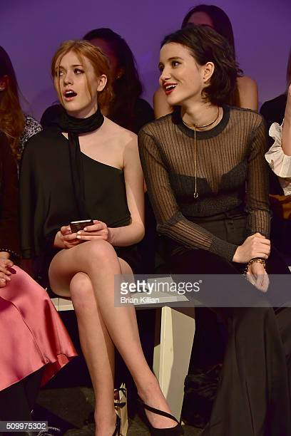 Actresses Katherine McNamara and Julia Goldani Telles attend the Jill Stuart Fall 2016 show during New York Fashion Week at Industria Superstudio on...