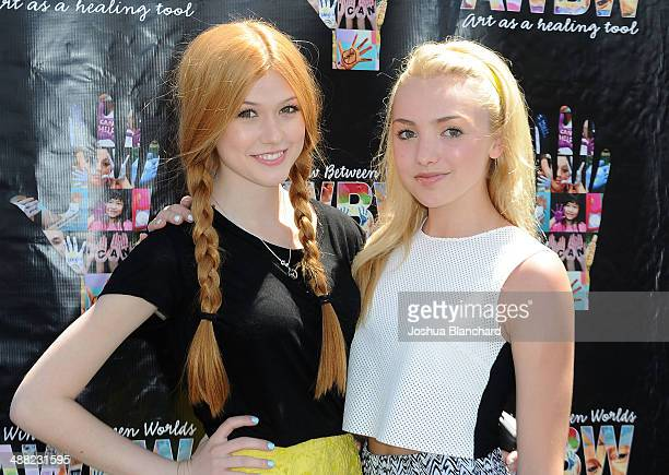 Actresses Katherine McNamara and Peyton List attend the Window Between Worlds presents Art In The Afternoon on May 4 2014 in Venice California