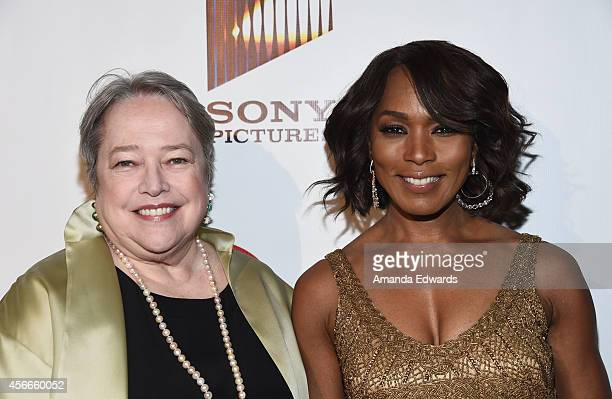 Actresses Kathy Bates and Angela Bassett arrive at the Special Needs Network's An Evening Under The Stars event at Sony Studios on October 4 2014 in...
