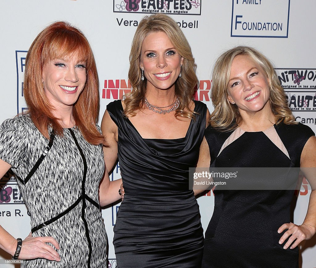 Actresses <a gi-track='captionPersonalityLinkClicked' href=/galleries/search?phrase=Kathy+Griffin&family=editorial&specificpeople=203161 ng-click='$event.stopPropagation()'>Kathy Griffin</a>, <a gi-track='captionPersonalityLinkClicked' href=/galleries/search?phrase=Cheryl+Hines&family=editorial&specificpeople=209249 ng-click='$event.stopPropagation()'>Cheryl Hines</a> and <a gi-track='captionPersonalityLinkClicked' href=/galleries/search?phrase=Rachael+Harris&family=editorial&specificpeople=240713 ng-click='$event.stopPropagation()'>Rachael Harris</a> attend the Inner-City Arts 2013 Imagine Gala at the Beverly Hilton Hotel on October 30, 2013 in Beverly Hills, California.
