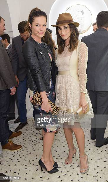 Actresses Katie Aselton and Abigail Spencer attend the Irene Neuwirth Flagship Grand Opening on October 30 2014 in West Hollywood California
