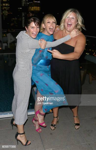 Actresses Katie Aselton Toni Collette and Bridget Everett attend the screening after party for 'Fun Mom Dinner' hosted by Momentum Pictures with the...