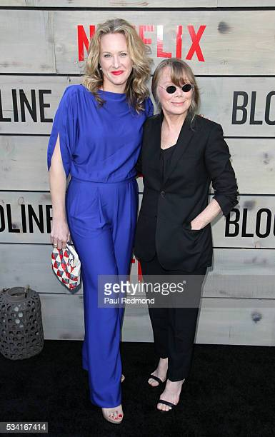 Actresses Katie Finneran and Sissy Spacek attend the Premiere Of Netflix's 'Bloodline' at Landmark Regent on May 24 2016 in Los Angeles California