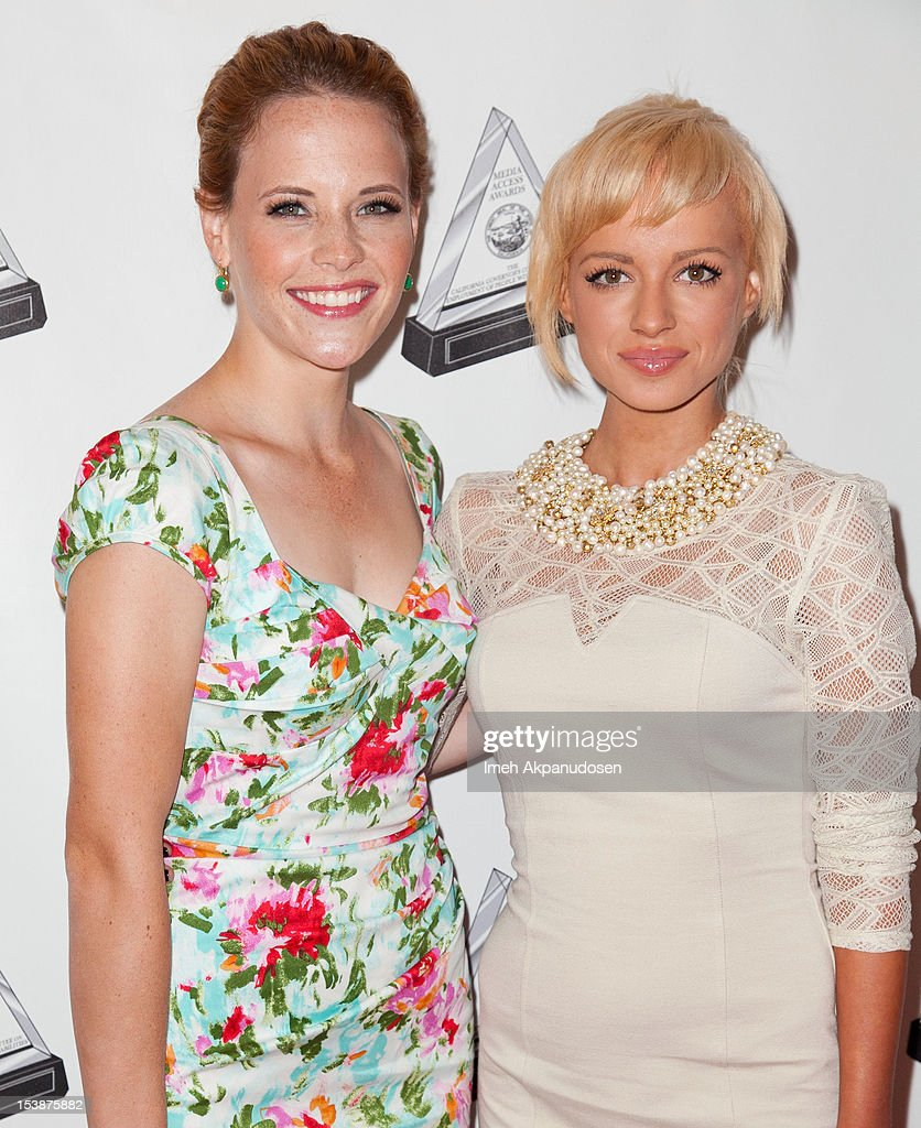 Actresses <a gi-track='captionPersonalityLinkClicked' href=/galleries/search?phrase=Katie+Leclerc&family=editorial&specificpeople=7765177 ng-click='$event.stopPropagation()'>Katie Leclerc</a> (L) and <a gi-track='captionPersonalityLinkClicked' href=/galleries/search?phrase=Ashley+Rickards&family=editorial&specificpeople=5056458 ng-click='$event.stopPropagation()'>Ashley Rickards</a> attend The 2012 Media Access Awards on October 10, 2012 in Beverly Hills, California.