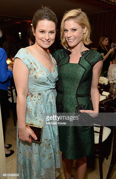 Actresses Katie Lowes and Julie Bowen attend ELLE's Annual Women in Television Celebration on January 13 2015 at Sunset Tower in West Hollywood...
