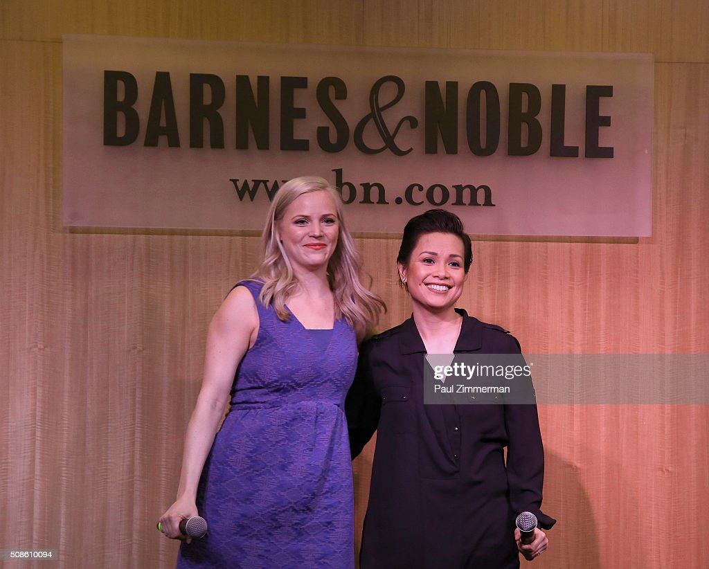 Actresses Katie Rose Clarke (L) and <a gi-track='captionPersonalityLinkClicked' href=/galleries/search?phrase=Lea+Salonga&family=editorial&specificpeople=2179610 ng-click='$event.stopPropagation()'>Lea Salonga</a> promote the original Broadway cast recording of 'Allegiance' at Barnes & Noble, 86th & Lexington on February 5, 2016 in New York City.