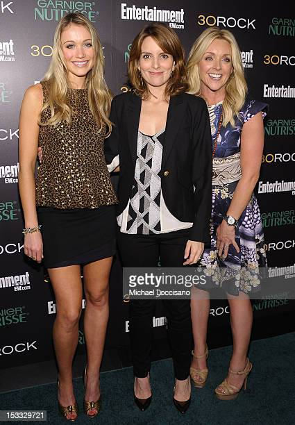 Actresses Katrina Bowden Tina Fey and Jane Krakowski attend Entertainment Weekly and NBC's celebration of the final season of 30 Rock sponsored by...
