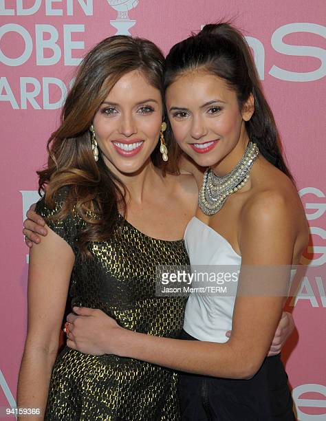 Actresses Kayla Ewell and Nina Dobrev arrive at the 2nd annual Golden Globes party saluting young Hollywood held at Nobu Los Angeles on December 8...