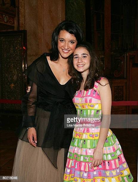 Actresses Keisha CastleHughes and Danielle Catanzariti attend the VIP drinks reception ahead of the 2008 Movie Extra FilmInk Awards at the State...