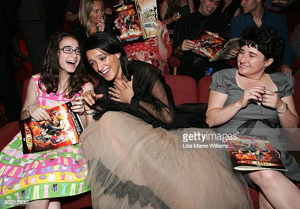 Actresses Keisha CastleHughes and Danielle Catanzariti sit in the audience ahead of the show at the 2008 Movie Extra FilmInk Awards at the State...